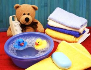 Waschschüssel für die Babypflege