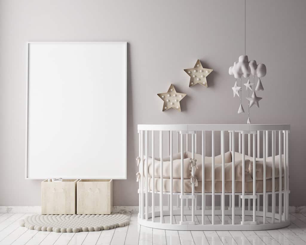 Laufgitter im Babybzimmer